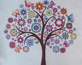 TREE of life tapestry panel fabric coupon