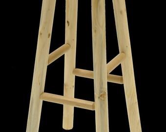 Log furniture Rustic Snow Creek Bar Stool