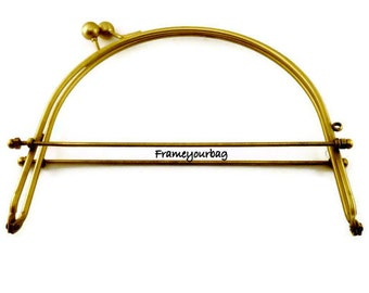 19cm (7.5 inch)anti brass half round metal purse frame F19/1054
