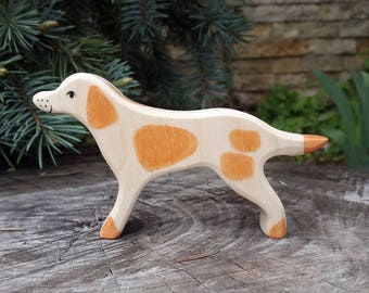 Wooden Dog - Hunting dog figurine - Waldorf toys- Doggie toy- Toys for Kids, Partyfavors for Boys and Girls, Birthday present
