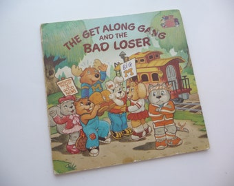Get Along Gang and the Bad Loser, Vintage Childrens Book, Vintage 1984, Softcover Book,Great Pictures, Reading, Scrapbooking, Kids Book, Art