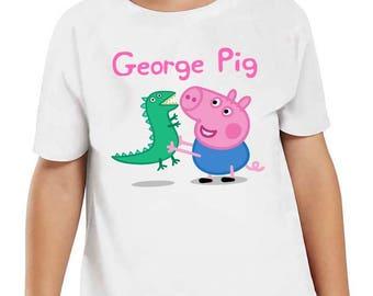Peppa Pig,George Pig, George Dinosaur, Peppa Pig Shirt, George Pig Birthday Shirt, George Pig Toddler Shirt, George Pig Shirt