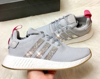 Women's Bling Custom Adidas Originals NMD R2 With Swarovski Crystals bling adidas  shoes