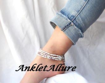 Anklet Ankle Bracelet Amethyst Anklet February Beach Anklets for Women