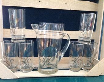 Anchor Hocking Pitcher & Glasses Set