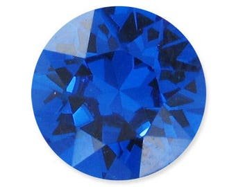 "Swarovski Crystal 8 mm cabochons loose ""Capri blue"" * 2"