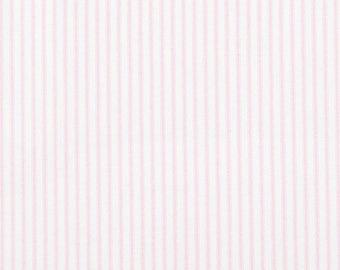 Home Decor Fabric | Classic Bella Pink White Ticking Stripe | Premier Prints