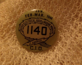 Vintage Teamsters 1140 452 13 1944 1985 Honor and SS award In the Fold ribbon buttons or pins