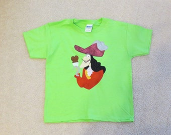 CaPTaiN HOOK with iCe CReaM from JAKE and the NeVeRLaND PiRaTeS Custom Boutique T SHIRT Tee PeTeR PaN