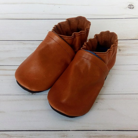 Brown Leather Soft Sole Baby Shoes 18-24M
