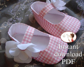 Easy. Baby Shoes. Sewing pattern. PDF. Printable. tutorial. newborn to 24 months. Magnolia Mary Janes