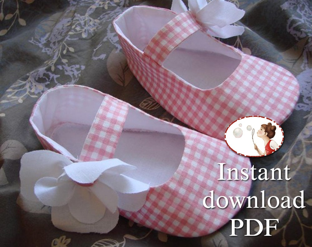 Easy baby shoes sewing pattern pdf printable tutorial zoom jeuxipadfo Choice Image
