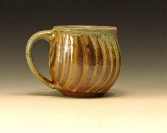 Wood-fired stoneware mug