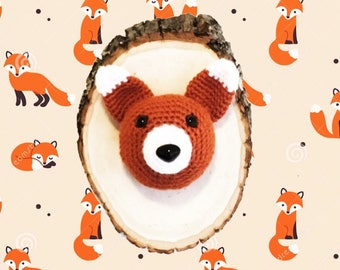 Sly Fox- Crochet Taxidermy