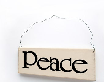 Peace Sign - Wood Sign with Saying