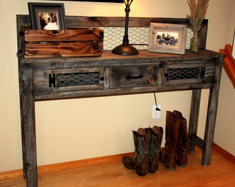 Rustic Barnwood Entry/Accent Table