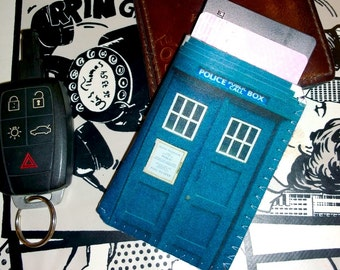 Business Card Holder - British Police Box - Oyster Card Holder - Business Card Case