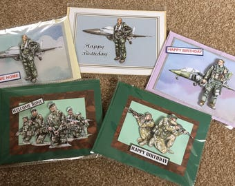 Military themed cards