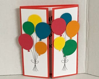 Happy Birthday Balloon Crazy Card , Kids , Adults  , Wish , Family , Friends , Co-workers , Teens