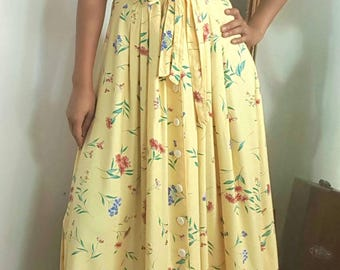 French Compagnie La Rochelle / Perfect Maxi Summer Dress / French vintage dress / Peasant  dress