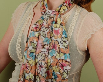 SCARF- Rainbow of Butterflies -fashion scarf