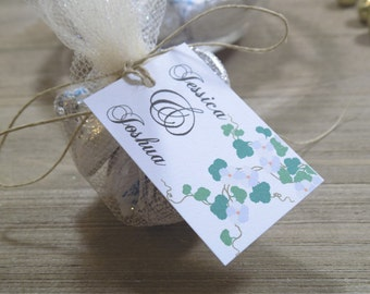 Personalized Floral Wedding Favor Tags Wedding Favors - Favor Tags - Thank you Tags - Personalized Favors - Bridal Tags
