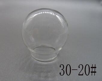 4pcs del globo de cristal de 30mm / botella de cristal / bulbos de cristal / vidrio domos N111