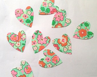Paper cut-out hearts 9 thick dies scrapbooking embellishment
