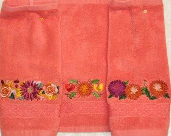 Chrysanthemum Washcloth Set