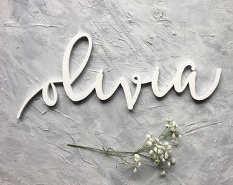 "Custom Wood Name Cutout - 6"" high Word Cutout - Wood Lettering - Name Sign - Wall Decor - Nursery Decor"