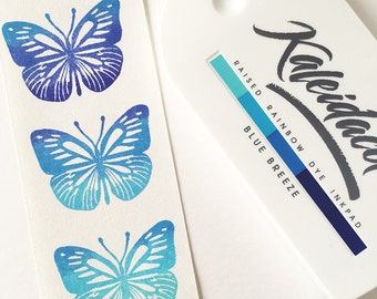 Blue Breeze Kaleidacolor, Blue Ink pad, Stamp Inkpad, Tsukineko