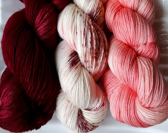 MCN Hand Dyed Sock Yarn - Loving the Cranberry Bog