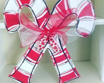 Candy Cane Christmas Door Hanger