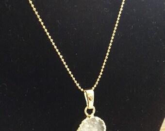 Sweet druzy pendant necklace