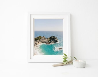 print of big sur, ocean print, mcway falls print, mcway falls, mcway falls photo, big sur print, big sur photo, california print, blue ocean