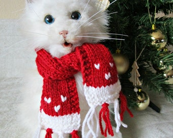 Dog christmas scarf for cat Pet christmas outfit Dog lover gifts Cat santa scarf Dog Cat outfits Pet christmas costume cat christmas scarf