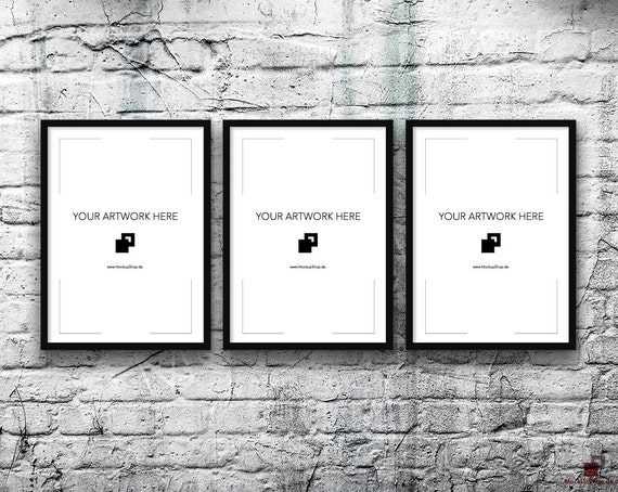 5x7 Set of 3 Frames BLACK FRAME MOCKUP, Vertical, Styled Photography ...