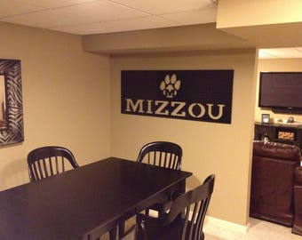 FALL Football SALE!  Reg 349, Now 249.  Large, Industrial-Look University of Missouri Sign:  Perfect for the biggest Mizzou fan