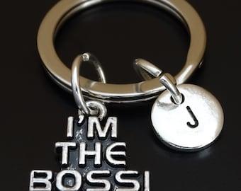 I am the Boss Keychain, Custom Keychain, Custom Key Ring, Boss Pendant, Boss Charm, Boss Jewelry, Boss Keychain, Gift for Boss, Boss Lady