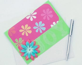 Spring Greeting Card - Blank All Occasion Card - Easter Cards Handmade - Spring Cards - Joy Card