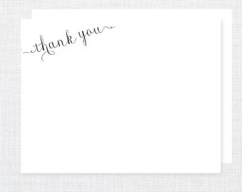 Calligraphy Flat Thank You Notes