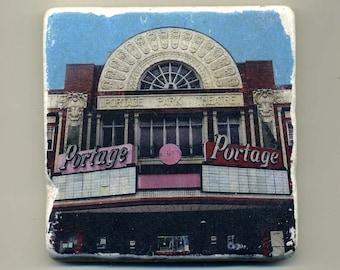 Portage Theater -  Original Coaster