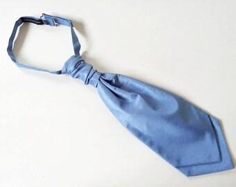 Light Blue Cravat Baby Blue Ascot Cravat Men's Ascot Cravat Blue Cravat Men's Dress Up Clothes Stylish Suit Tie Light Blue Necktie