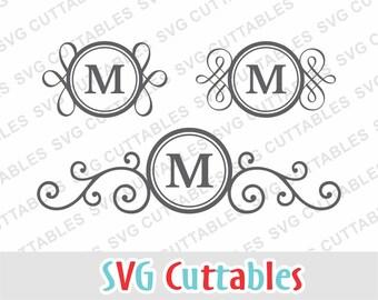 Mailbox svg, Mailbox Monogram Frame SVG, mailbox dxf, eps, monogram frame svg, Silhouette file, Cricut cut file, Digital download