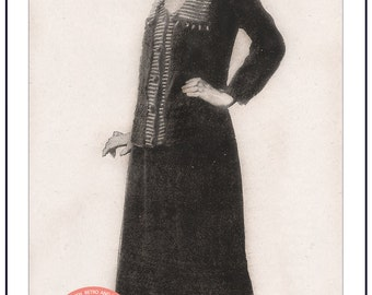 1920s Ladies Jacket and Skirt  Knitting Pattern – PDF Instant Download