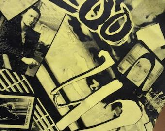 U2 , 1994 zoo tv , size M , vintage print gile' / vest, Eco skin, fake skin. Rare object, for real collectors !!!