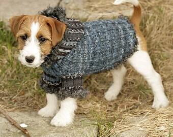 Custom Knit Hooded Dog Sweater