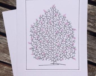 Lilac Bush Note Card