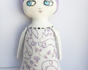 Art Doll - Painted Cloth Doll - Baby Shower - Nursery Decor Girls - Gifts for Her - Gifts for Girls