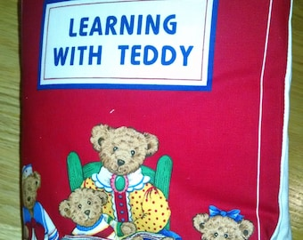 Learning  with Teddy  Cloth Book    BK150099